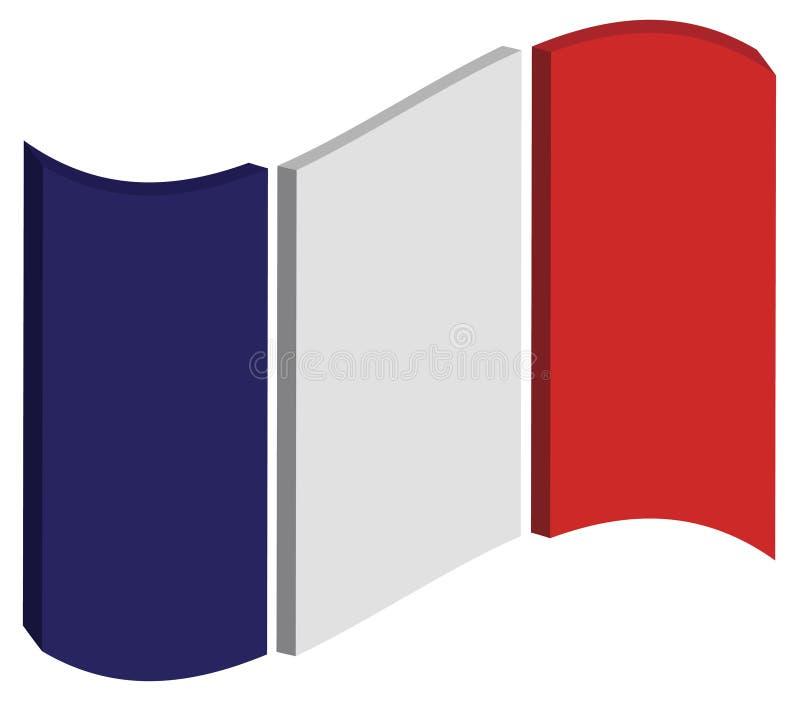 抽象法国标志 免版税图库摄影