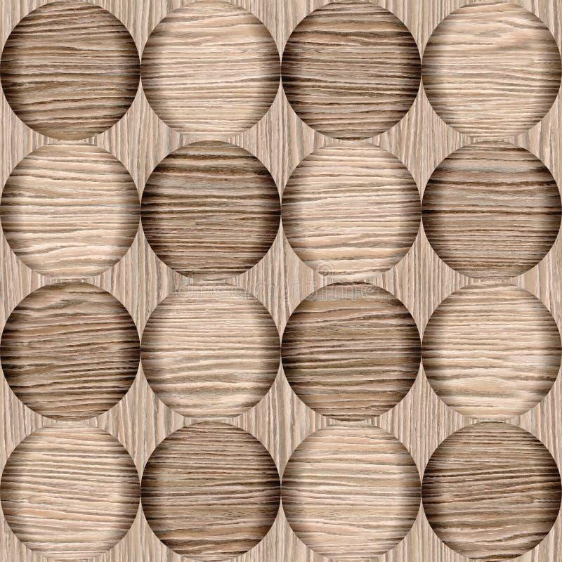抽象泡影样式-抨击的橡木凹线木头纹理 向量例证