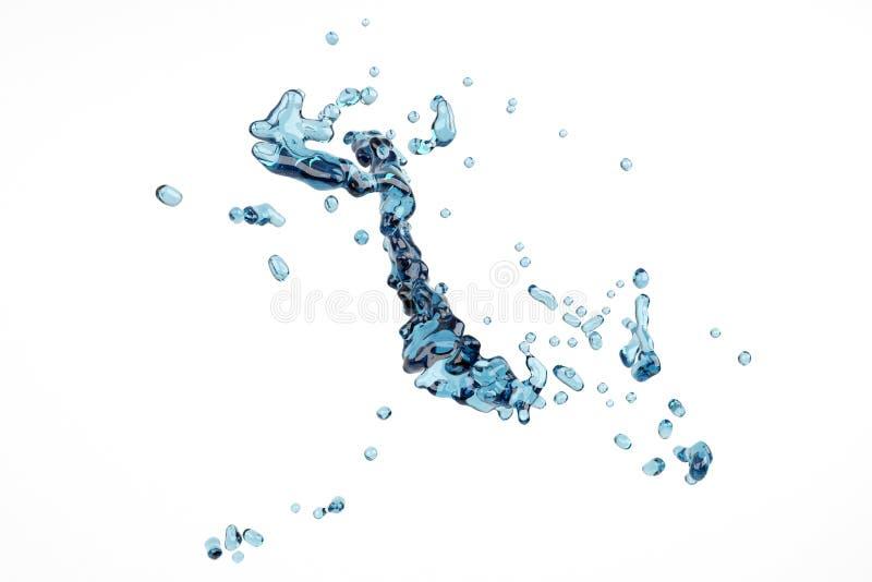 抽象泡影液体飞溅水 库存例证