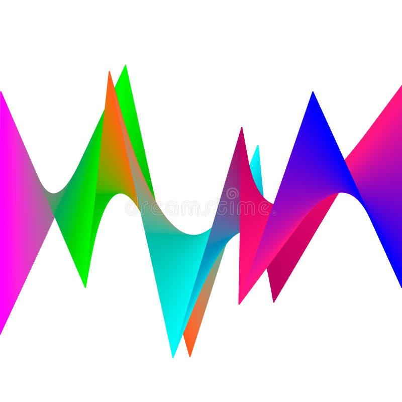 抽象波向量背景,彩虹挥动小册子的,网站,飞行物设计线 光谱波浪 r 皇族释放例证