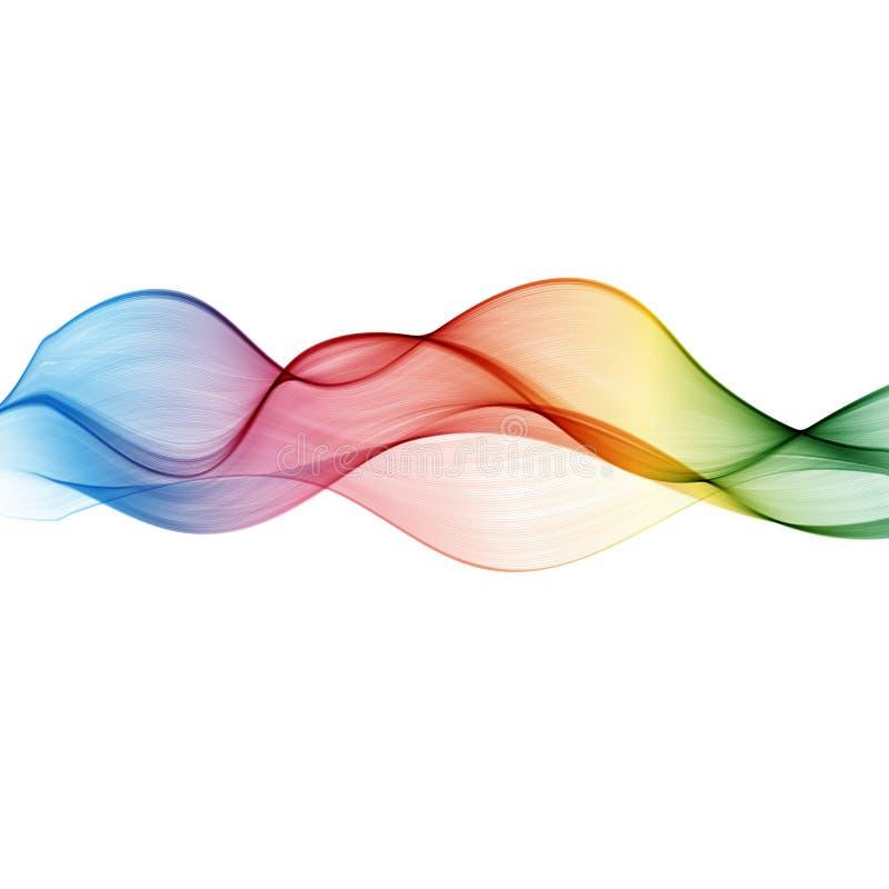 抽象波向量背景,彩虹挥动小册子的,网站,飞行物设计线 向量例证