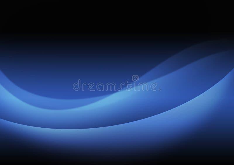 抽象波浪在深蓝背景中 图库摄影