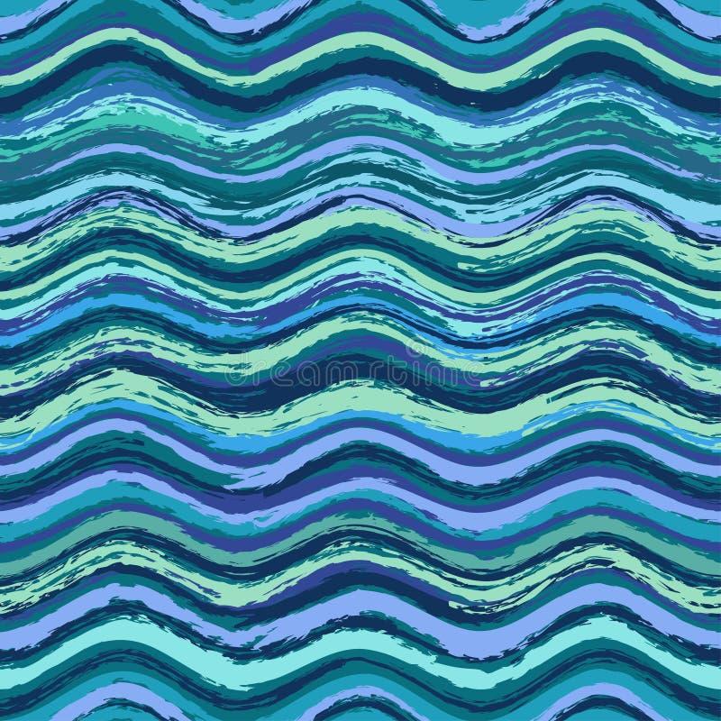 抽象波浪无缝的样式 皇族释放例证