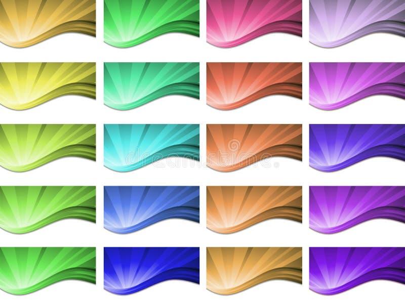 抽象波浪背景传染媒介设计 皇族释放例证