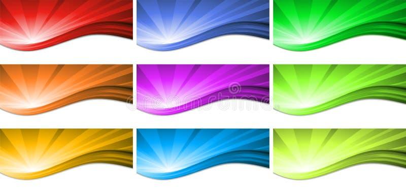 抽象波浪背景传染媒介设计 向量例证