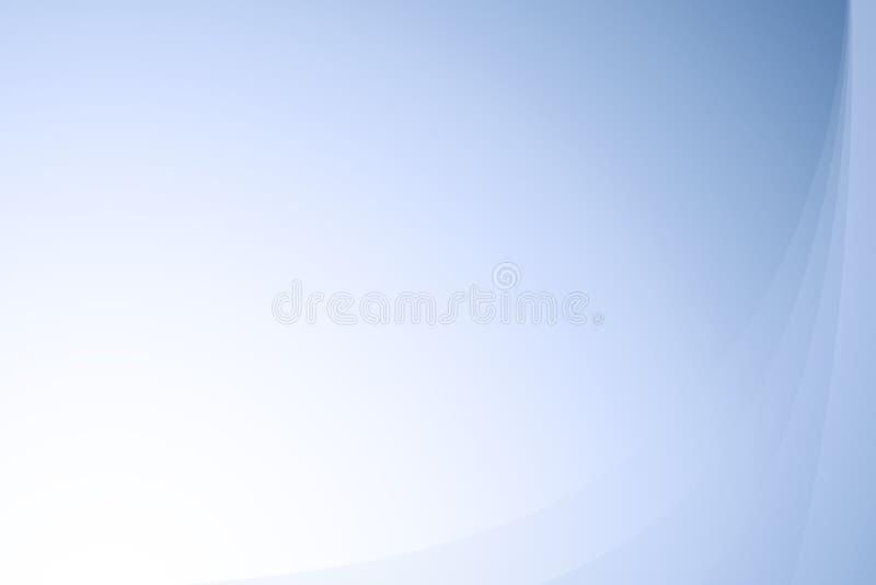 抽象波浪背景蓝色的梯度 免版税库存图片