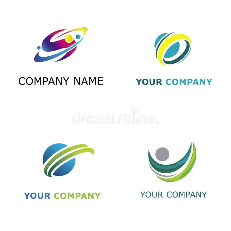 抽象派公司要素例证徽标 向量例证