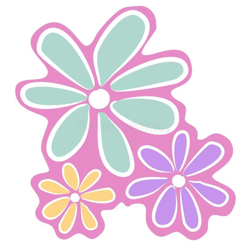 抽象派夹子开花粉红色 皇族释放例证
