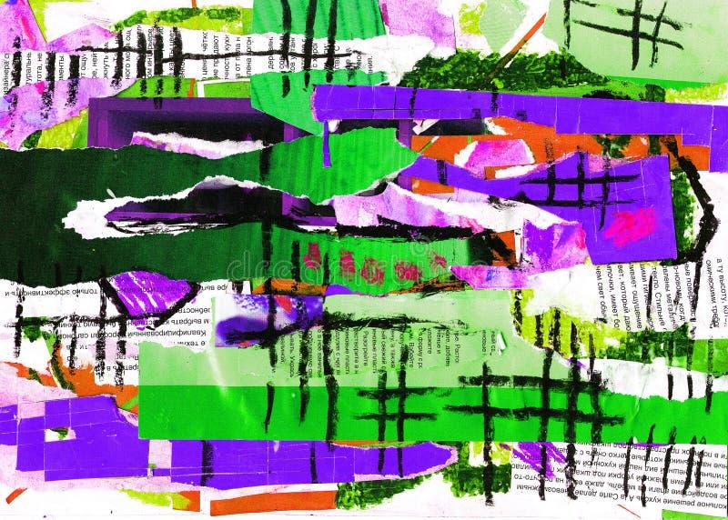 抽象派拼贴画颜色油漆 皇族释放例证