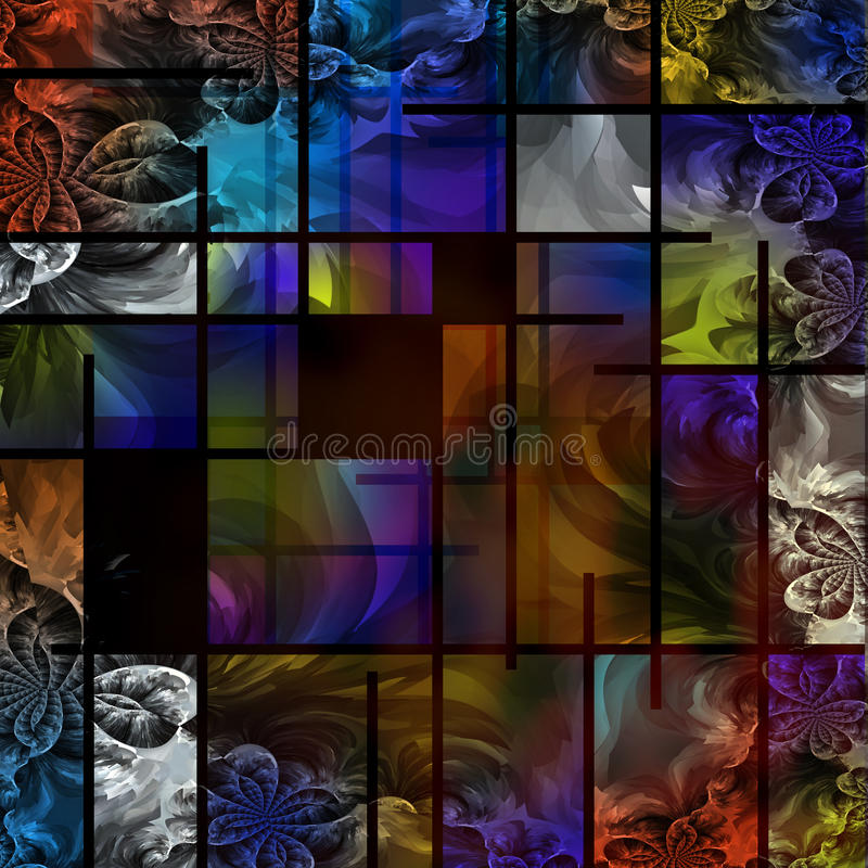 抽象派根据现代部分 库存例证