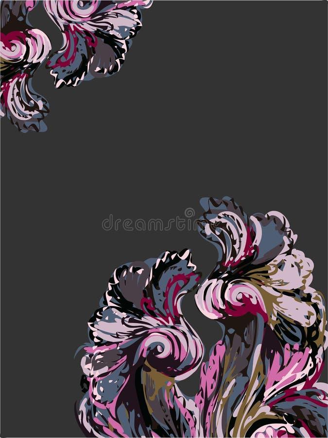 抽象派油漆背景传染媒介黑暗的紫色 向量例证