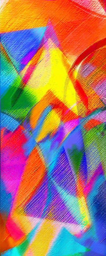 抽象派现代绘画 向量例证