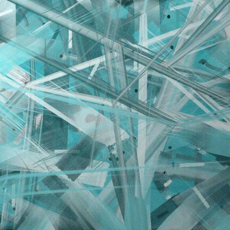 抽象派破裂的深青色 向量例证