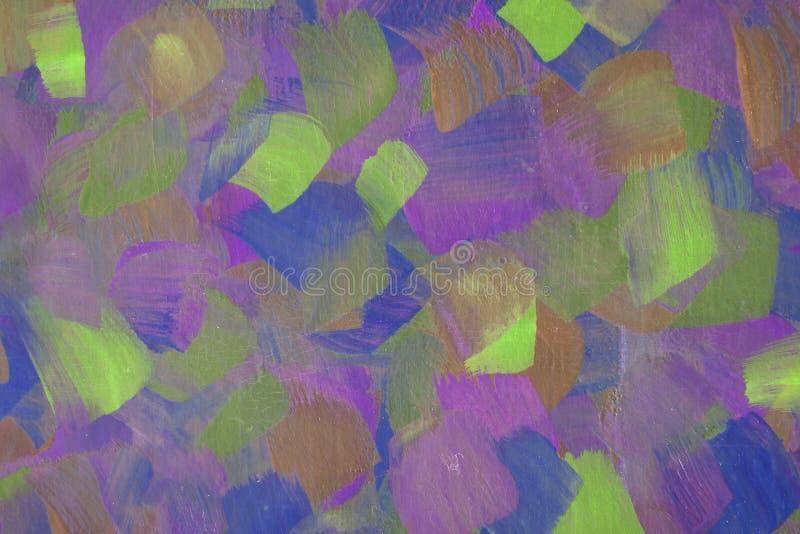抽象派背景手拉的丙烯酸酯的绘画 库存例证