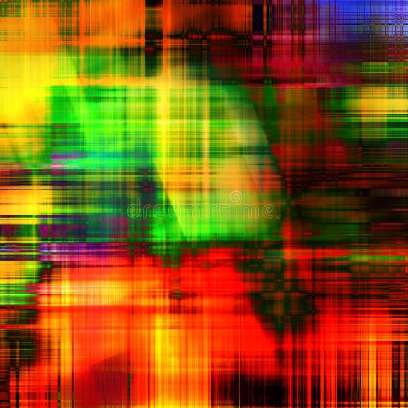 抽象派背景模式彩虹 库存例证