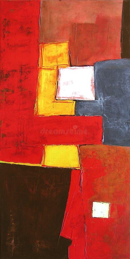 抽象派背景现代绘画 皇族释放例证