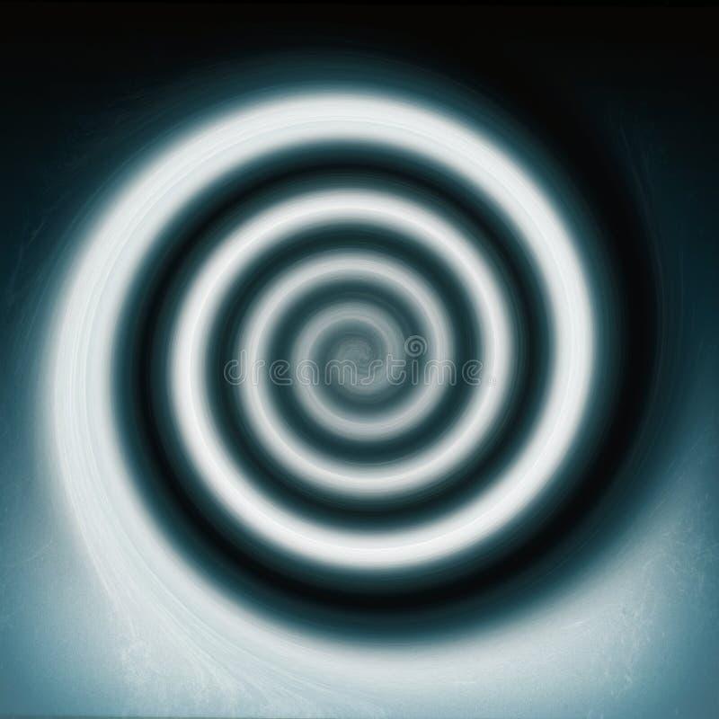 抽象派背景移动螺旋向量旋转 库存例证