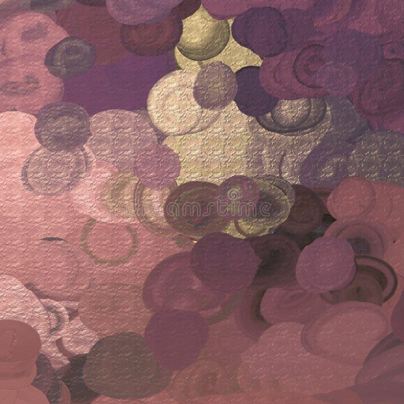 抽象派背景 抽象画布五颜六色的用花装饰的油原始绘画 艺术品的片段 画笔冲程 现代艺术纹理 厚实的油漆 库存例证