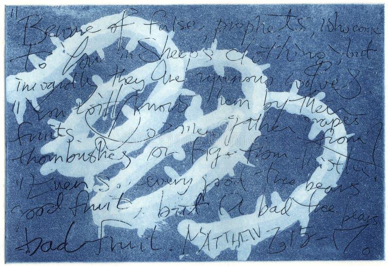 抽象派艺术性的木刻版印刷 皇族释放例证