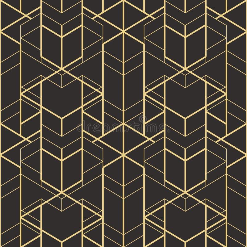 抽象派deco无缝的样式01 向量例证