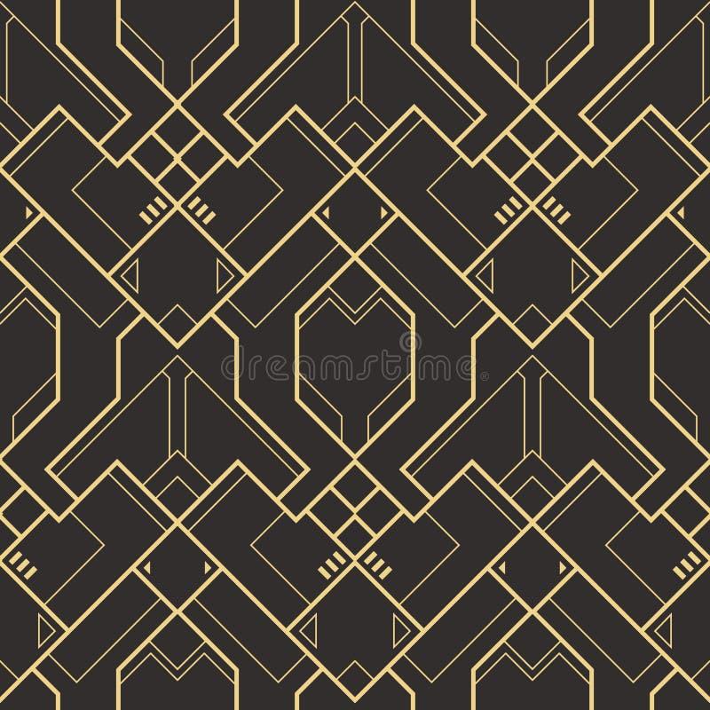 抽象派deco无缝的样式 E 皇族释放例证