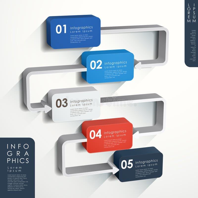 抽象流程图infographics 向量例证