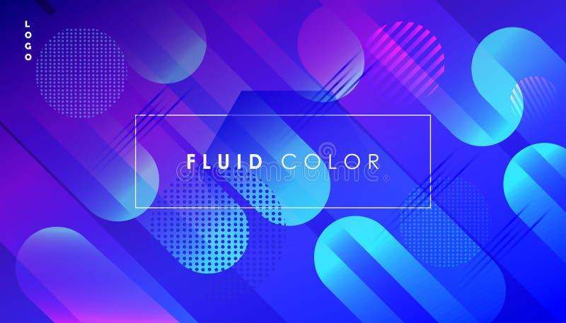抽象流行艺术可变的颜色最小的世界网事务 皇族释放例证