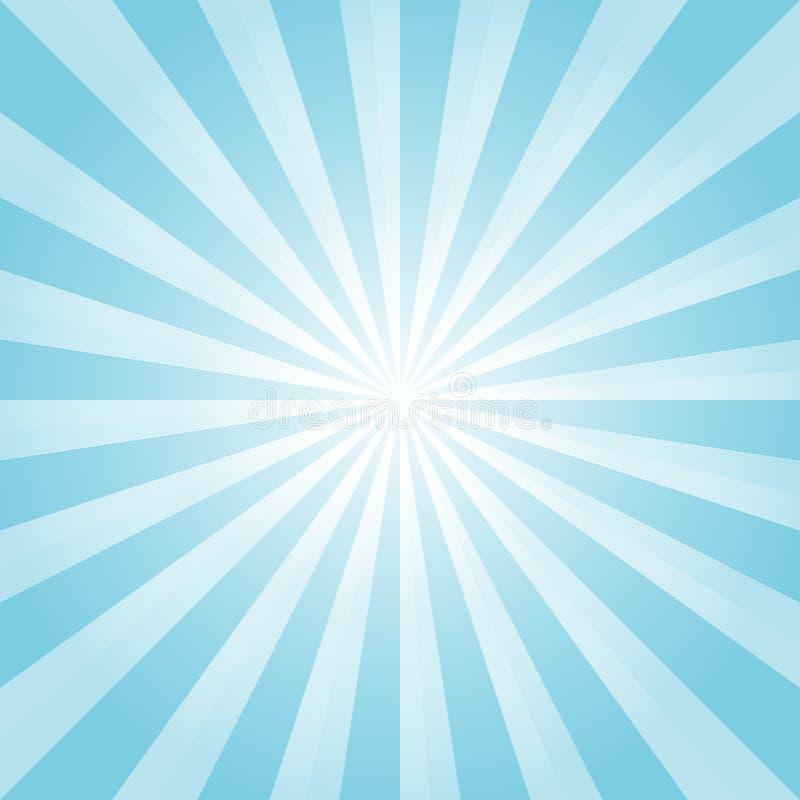 抽象浅兰的光芒背景 传染媒介EPS 10 cmyk 向量例证
