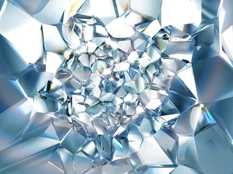 抽象浅兰的清楚的水晶背景 皇族释放例证
