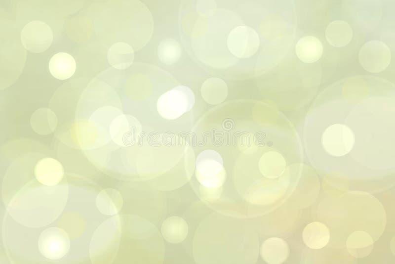 抽象浅绿色和黄色精美典雅的美好的被弄脏的背景 与软的样式设计的新现代轻的纹理 库存例证