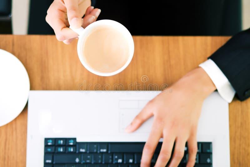 抽象浓咖啡 库存照片