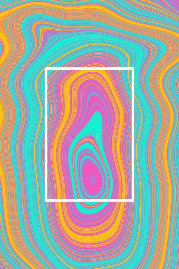 抽象海报背景和液体设计graphie,紫色桃红色 免版税库存照片
