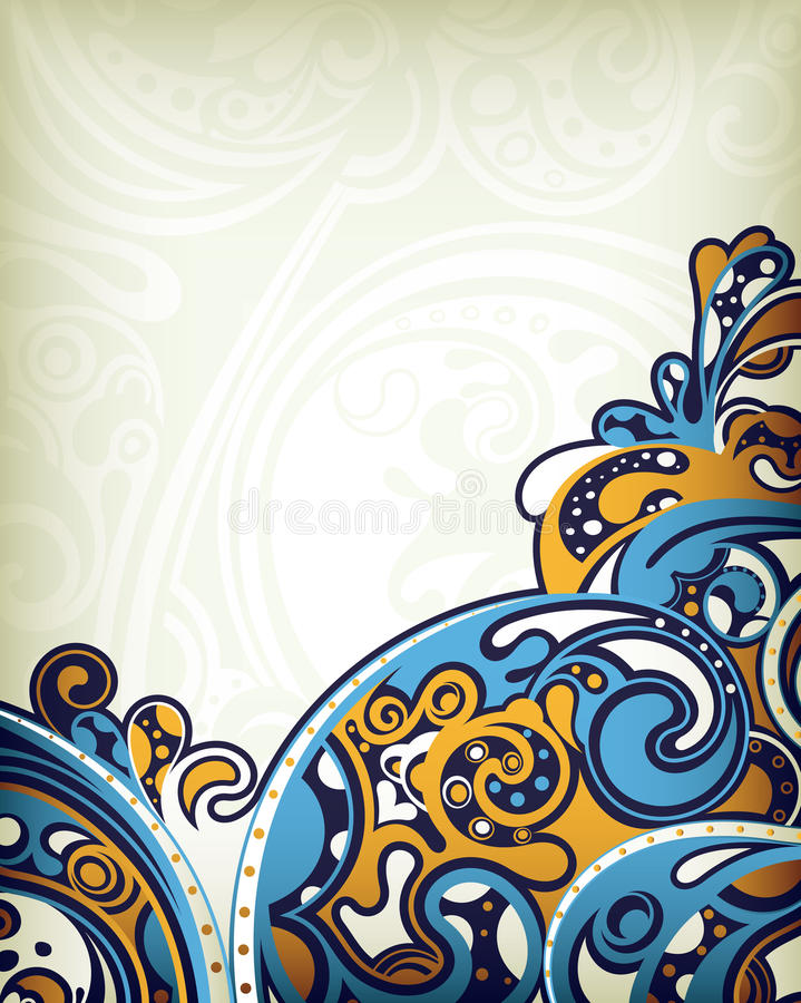 抽象海浪 皇族释放例证