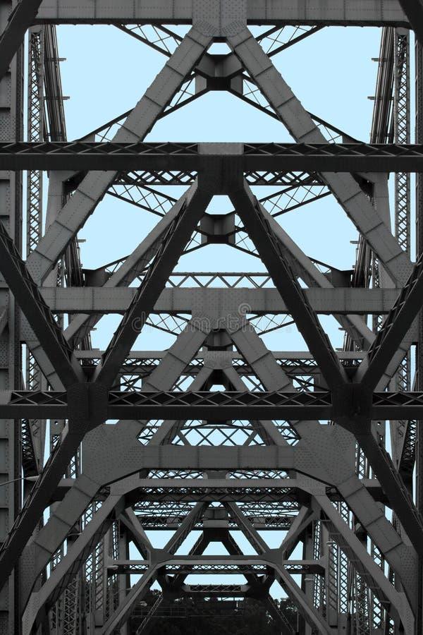 抽象海湾桥梁 免版税库存照片