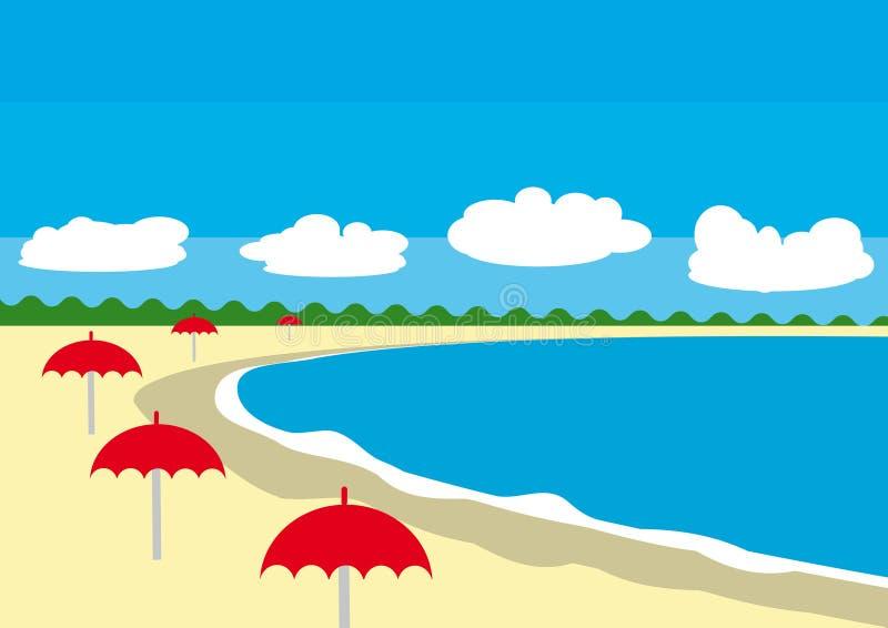 抽象海滩夏天 皇族释放例证