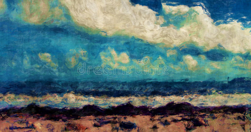 抽象海滩 库存例证