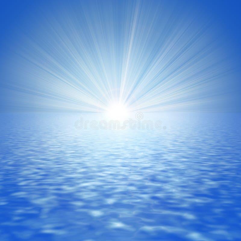 抽象海运星期日 皇族释放例证