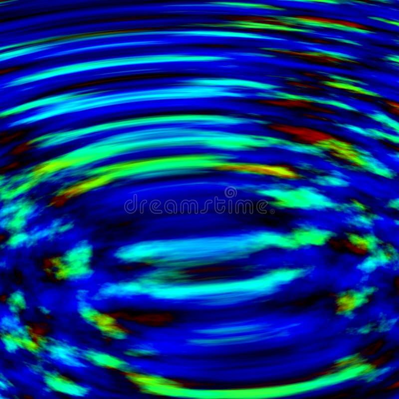 抽象深蓝水地表电波背景 免版税库存照片