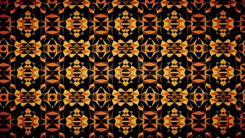 抽象深黑色橙色颜色样式墙纸 免版税库存照片