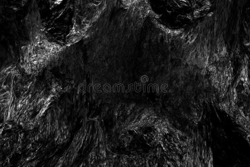 抽象深黑色石头表面背景 免版税图库摄影
