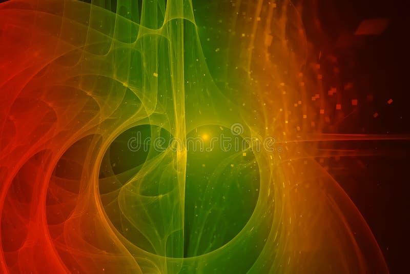 抽象混乱作用爆炸意想不到的充满活力的爆炸幻想设计曲线 向量例证