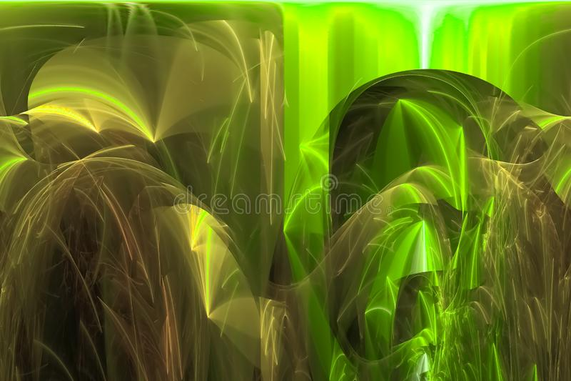 抽象混乱作用黑暗的意想不到的充满活力的爆炸幻想设计曲线 皇族释放例证