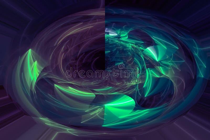 抽象混乱作用黑暗的意想不到的爆炸幻想设计曲线 皇族释放例证