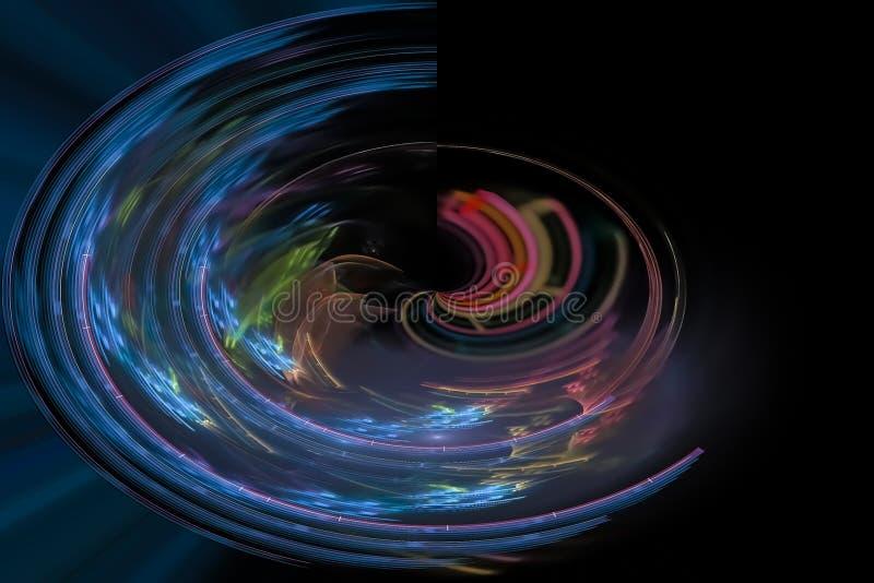抽象混乱作用黑暗的爆炸意想不到的充满活力的爆炸幻想设计曲线 皇族释放例证