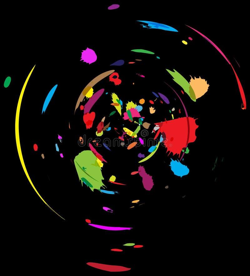 Download 抽象混乱颜色 库存例证. 插画 包括有 凹道, 五颜六色, 作用, 混乱, 油漆, 抽象, brusher - 3664016