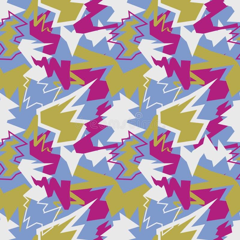 抽象混合无缝的样式 动态的背景 积极的te 向量例证