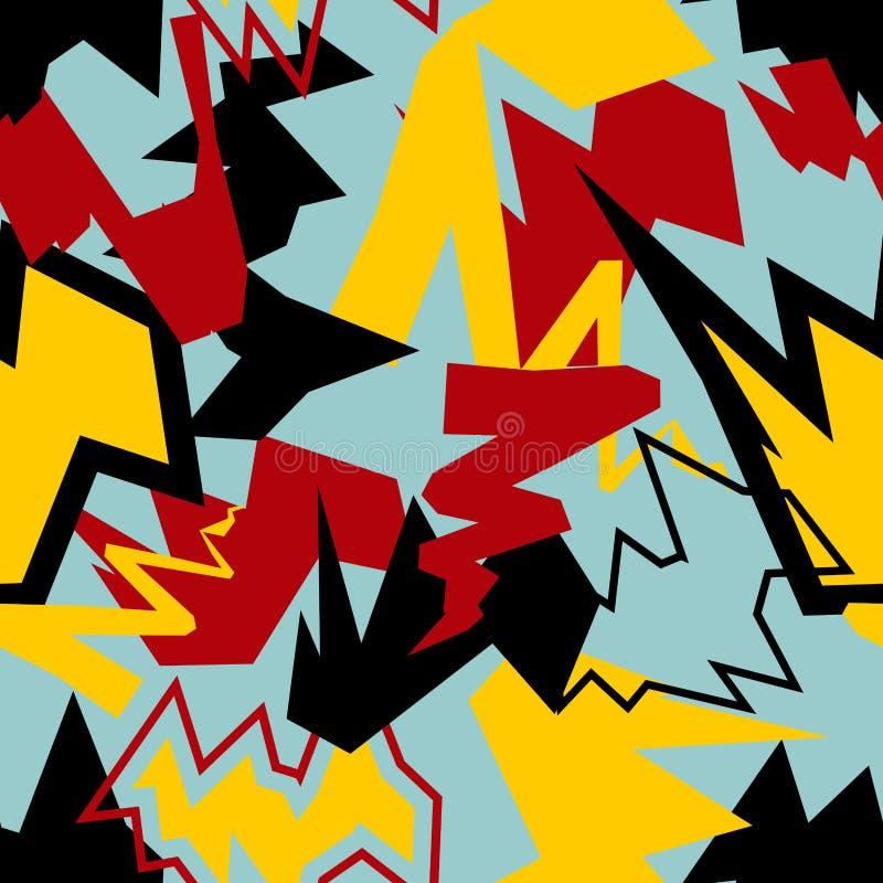 抽象混合无缝的样式 动态的背景 积极的te 库存例证