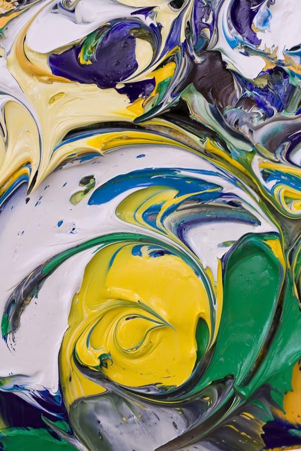 抽象混杂的油漆 库存照片
