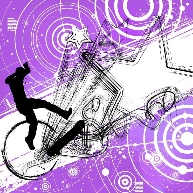 抽象溜冰者 向量例证