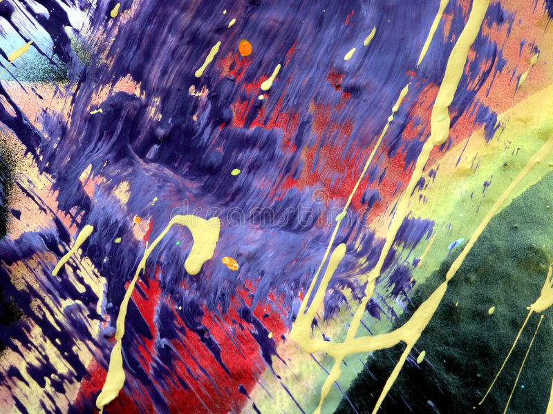 抽象滴水油漆 库存照片